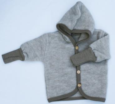f59ee5198524 Cosilana wool fleece jacket light brown melange - Engelchen flieg