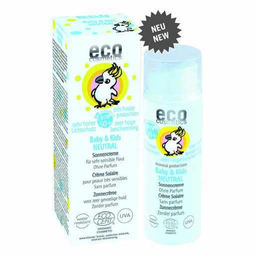eco cosmetics Baby & Kids Sonnencreme LSF 50+ NEUTRAL - ohne Parfum