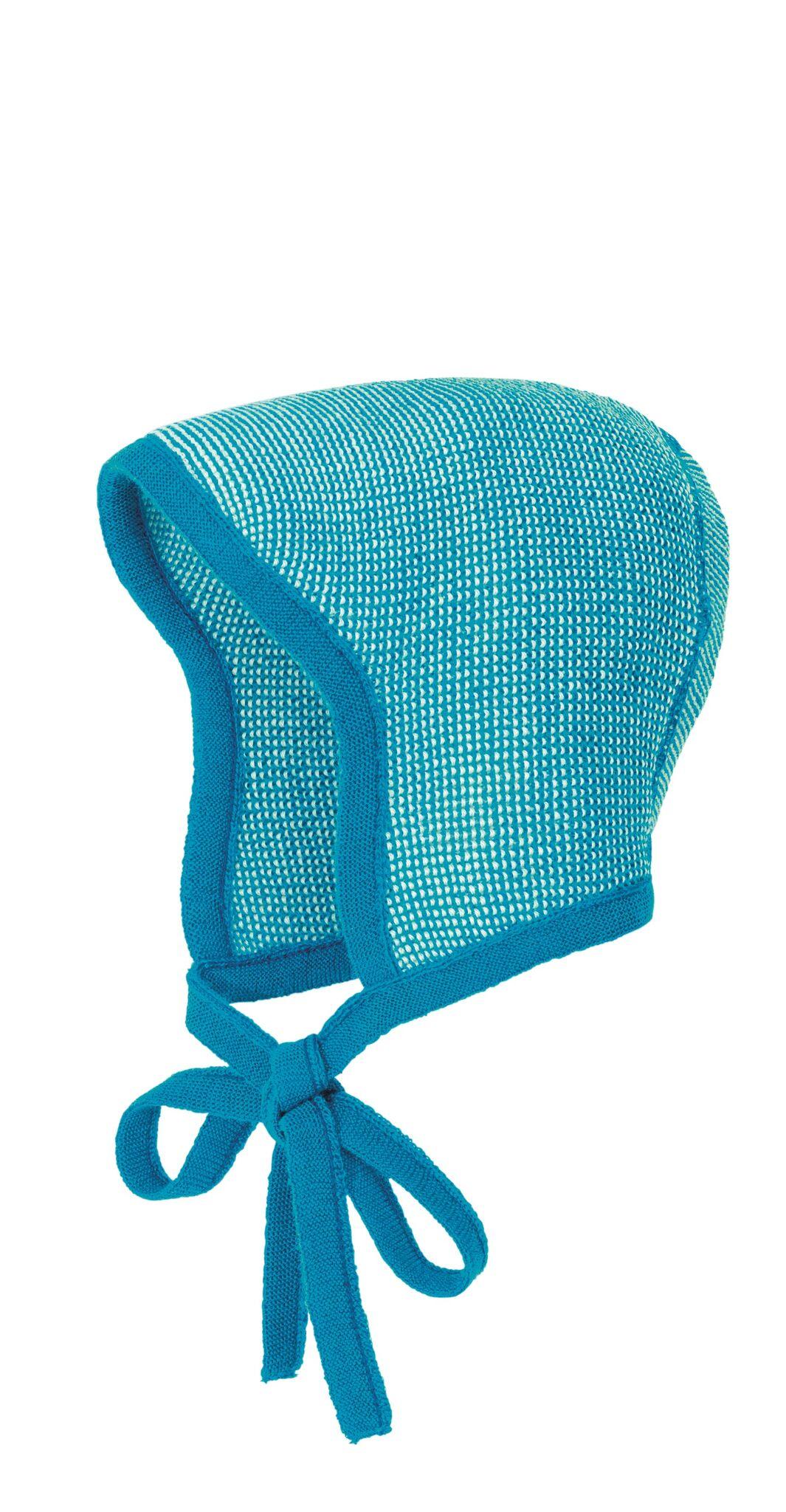 4c08353ad2a Disana knitted baby bonnet blue natural - Engelchen flieg