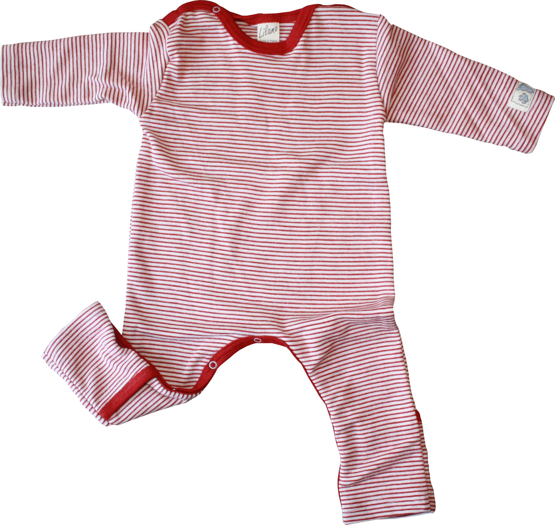 lilano baby overall wolle seide rot natur mit umschl gen engelchen flieg. Black Bedroom Furniture Sets. Home Design Ideas