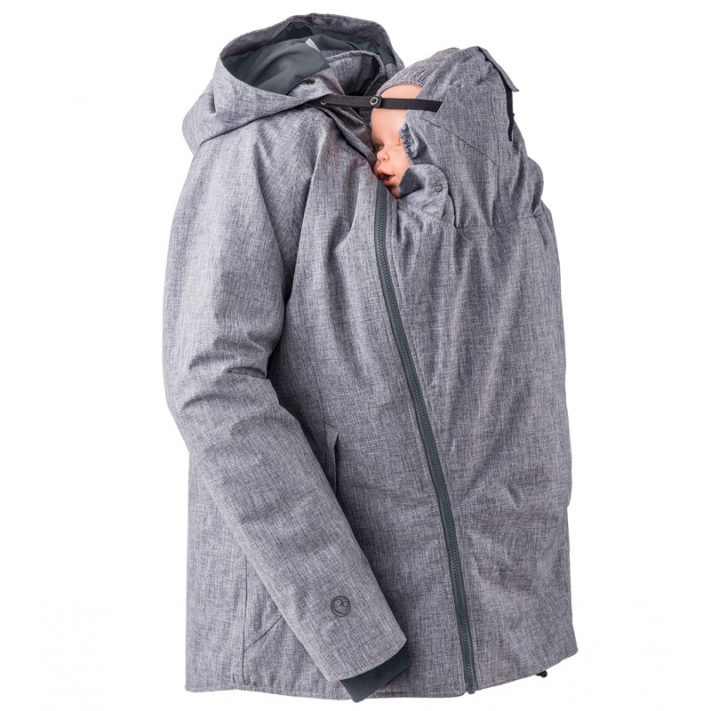 Mamalila Winterjacke für zwei grau Tragejacke mit
