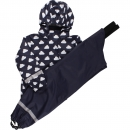 Green Cotton Regenkleidung Set Wolken Navy