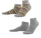 living crafts Sneaker-Socken 2-er Pack Grau/Bunt