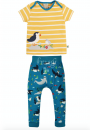 Frugi Set T-Shirt / Hose Papageientaucher