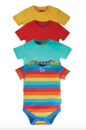 Frugi Baby Body 1/4 Arm Rot