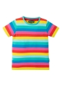 Frugi T-Shirt Flamingo Multi Stripe
