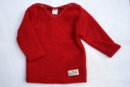 Lilano Pullover Wollfrottee-Plüsch Rot